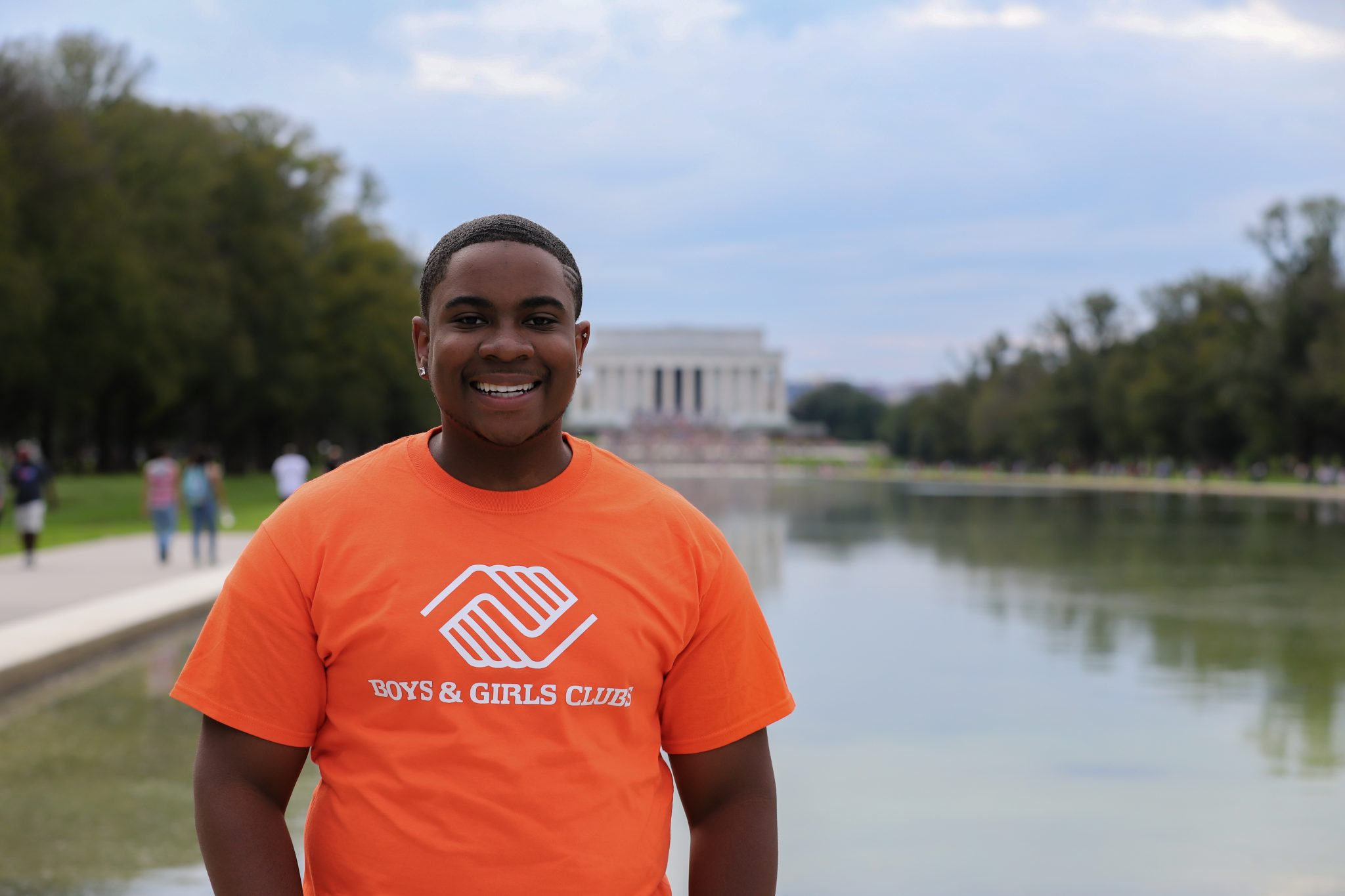 Malachi Haynes stands in front of the Washington