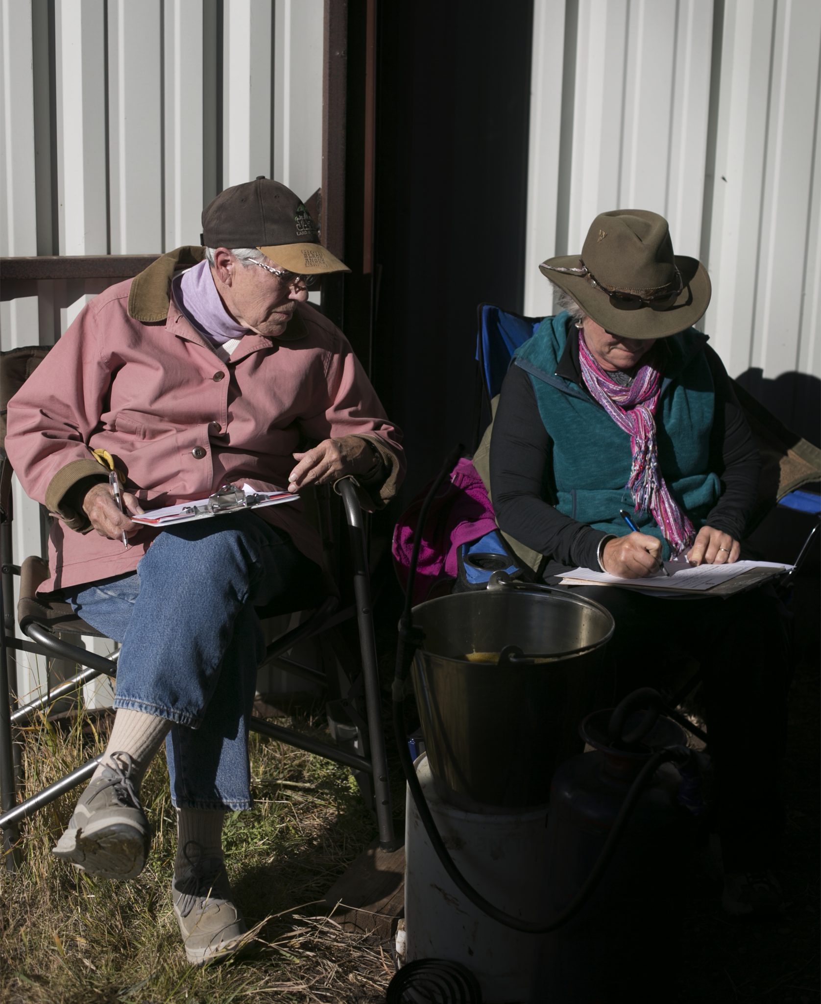 Thelma Starner and Vicki Ripp, ranchers, manage their family business