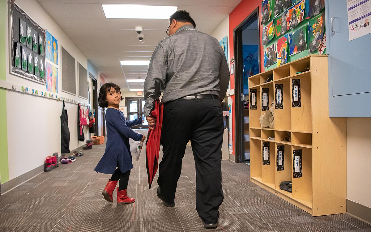 Nunez and his daughter