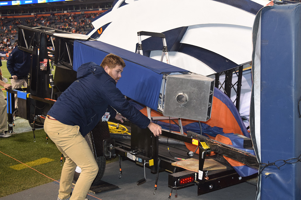 Institute alumnus Tyler Voigt completed a marketing internship with the Broncos.