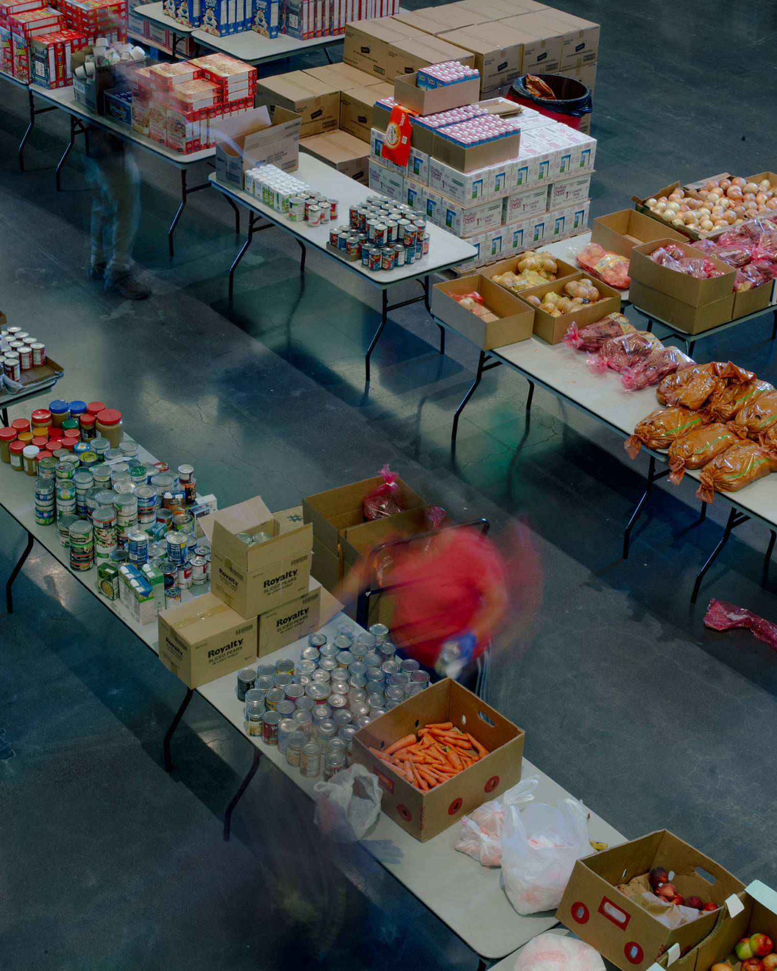 The Rams Against Hunger food pantry