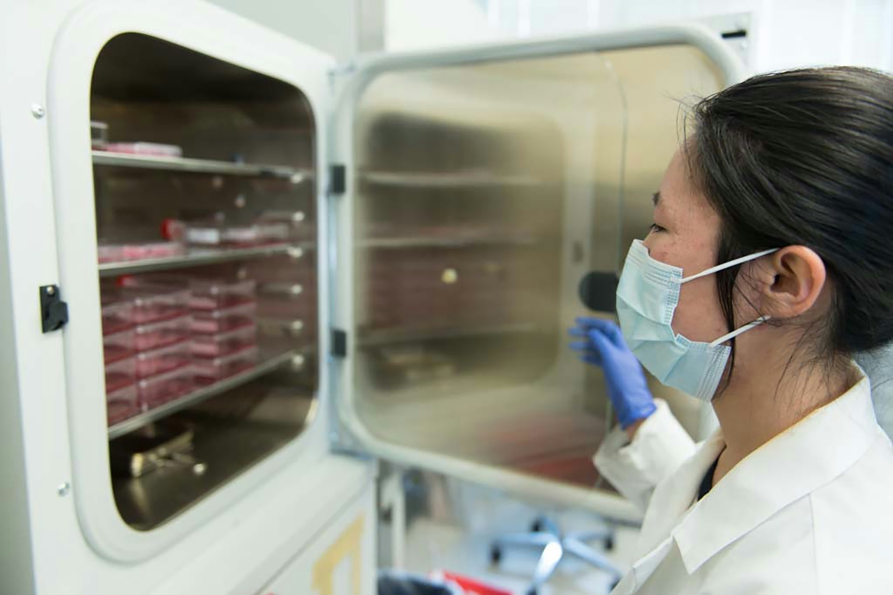 female researcher doing vaccine research